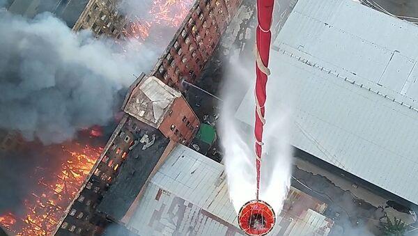 St. Petersburg - fabrika - yangın - Sputnik Türkiye
