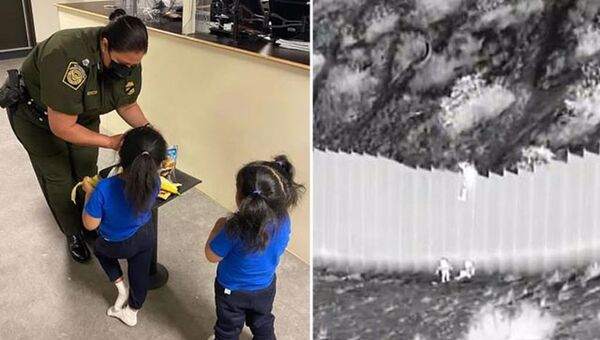 ABD ile Meksika sınırındaki 4.5 metrelik duvardan atılan iki kız kardeş ailesine kavuşacak - Sputnik Türkiye