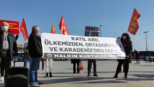 Dolmabahçe'de HKP'den ABD protestosu - Sputnik Türkiye