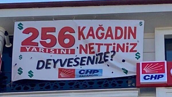 CHP - 128 milyar dolar - pankart - Sputnik Türkiye