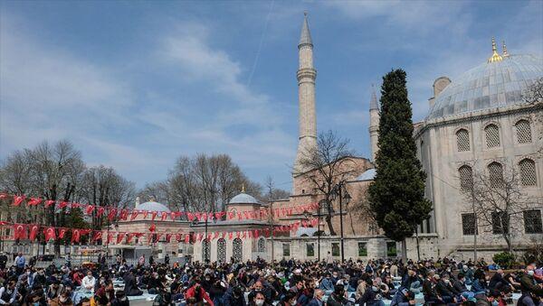 Ramazan  - cuma namazı - Ayasofya - Sputnik Türkiye