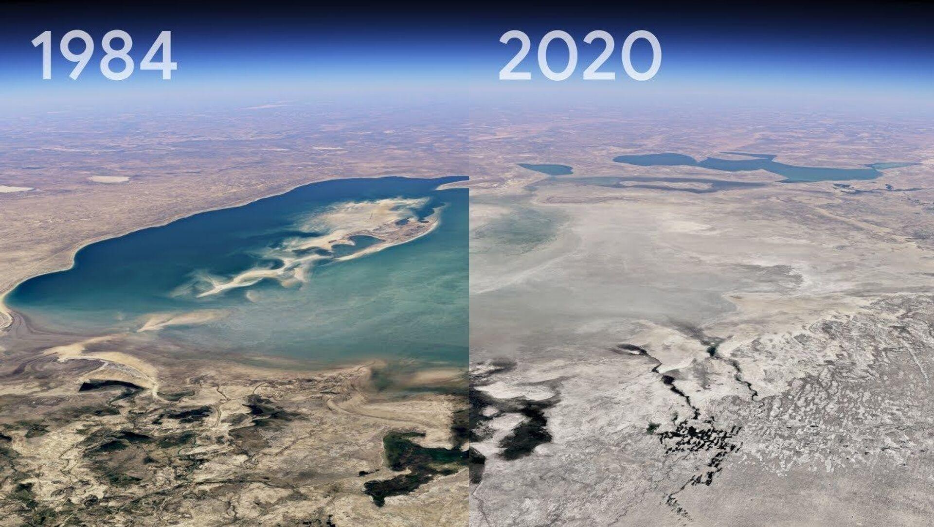 Google Earth'ten yeni 'Timelapse' özelliği: Bir yerin 37 yıllık değişimi görülebilecek - Sputnik Türkiye, 1920, 16.04.2021
