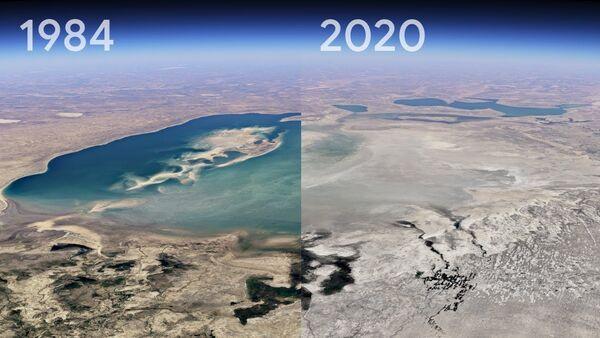 Google Earth'ten yeni 'Timelapse' özelliği: Bir yerin 37 yıllık değişimi görülebilecek - Sputnik Türkiye