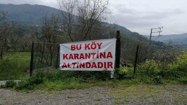Köy karantina, karantina yazısı, Kastamonu köy,  - Sputnik Türkiye