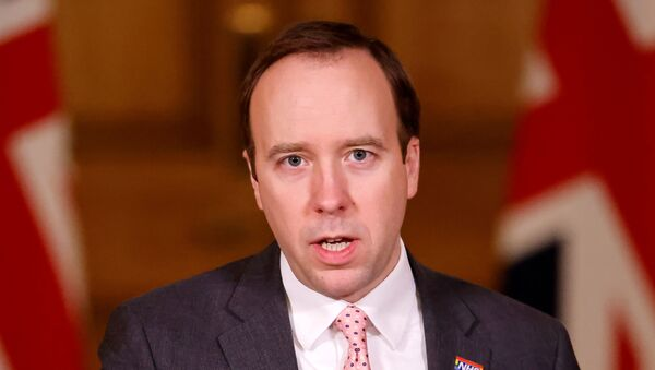 İngiltere Sağlık Bakanı Matt Hancock - Sputnik Türkiye