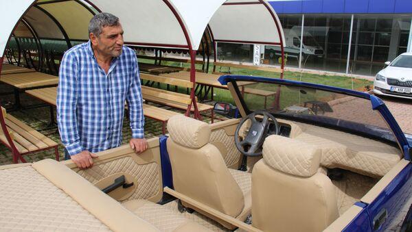 Elazığlı araç tamircisi, 5 bin TL'ye aldığı otomobili üstü açık araca dönüştürdü - Sputnik Türkiye