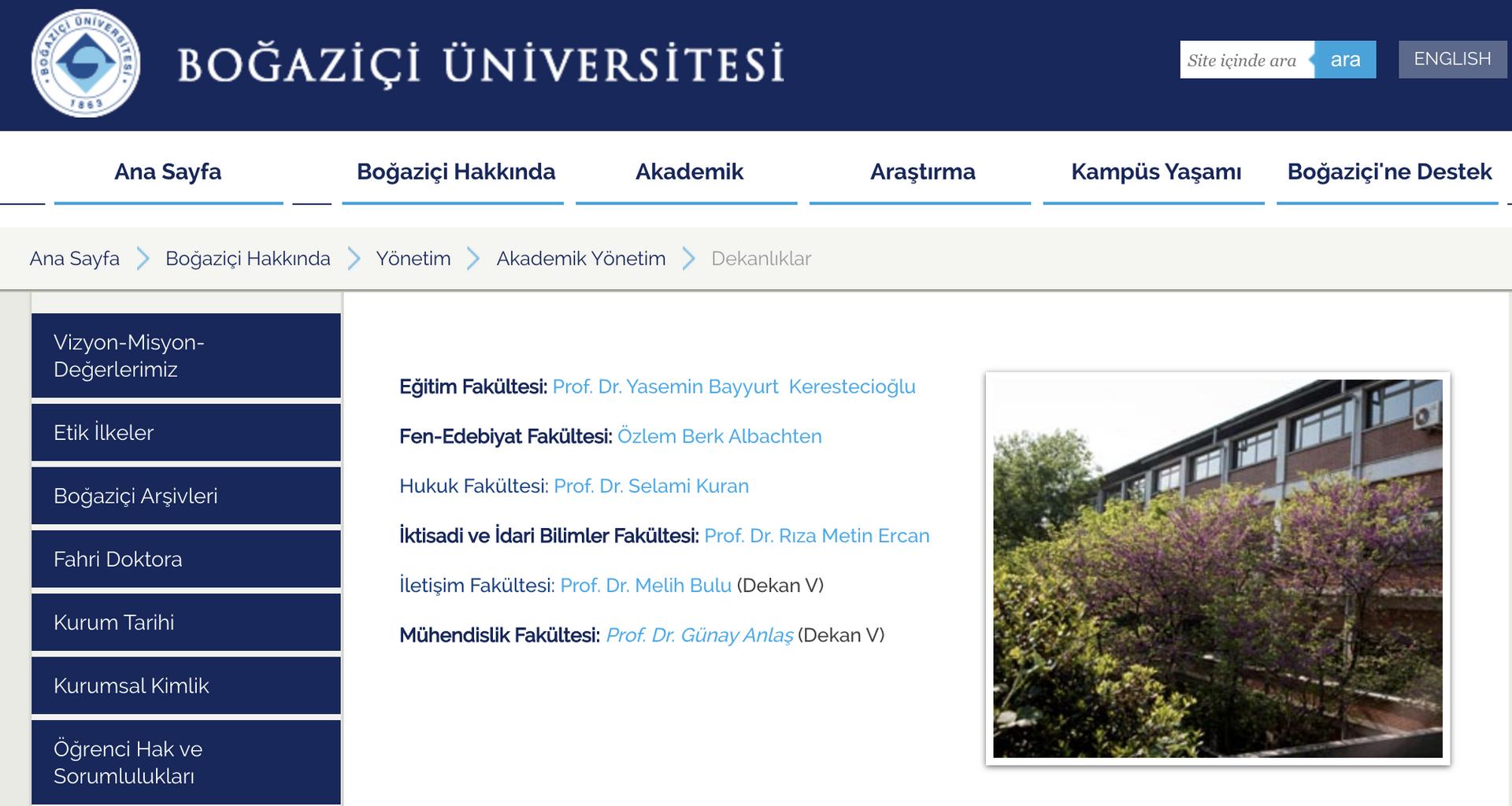 Prof. Bulu, Boğaziçi Üniversitesi'nde kurulan iletişim fakültesine vekaleten dekan olarak atandı - Sputnik Türkiye, 1920, 20.04.2021