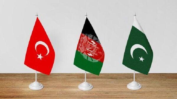 Türkiye, Afganistan, Pakistan bayrak - Sputnik Türkiye