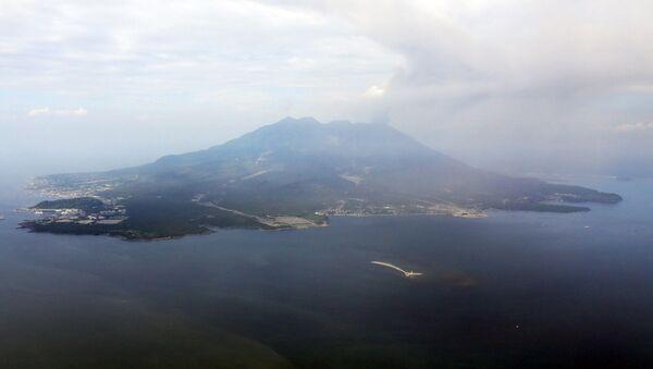 Japonya - Sakurajima Yanardağı - Sputnik Türkiye