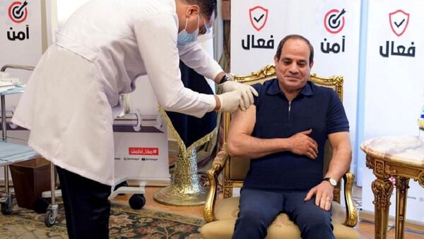 Mısır Cumhurbaşkanı Sisi Kovid-19 aşısı oldu - Sputnik Türkiye