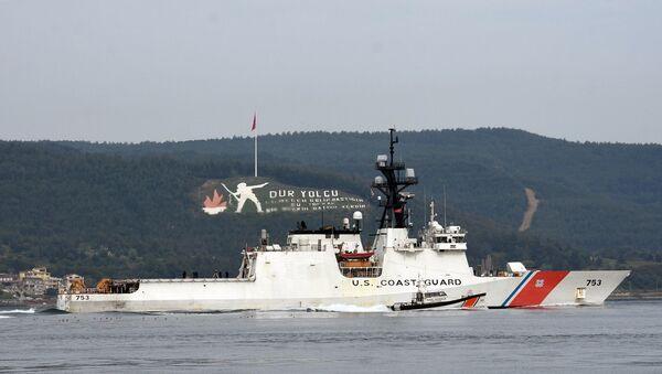 753 borda numaralı Sahil Güvenlik gemisi 'USS Hamilton' - Sputnik Türkiye