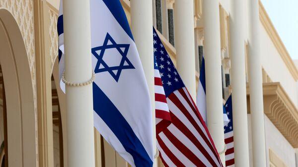 ABD ile İsrail bayrakları - Sputnik Türkiye