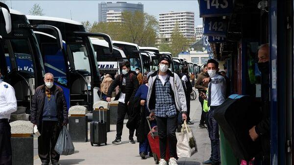 İstanbul, otogar, koronavirüs, otobüs - Sputnik Türkiye