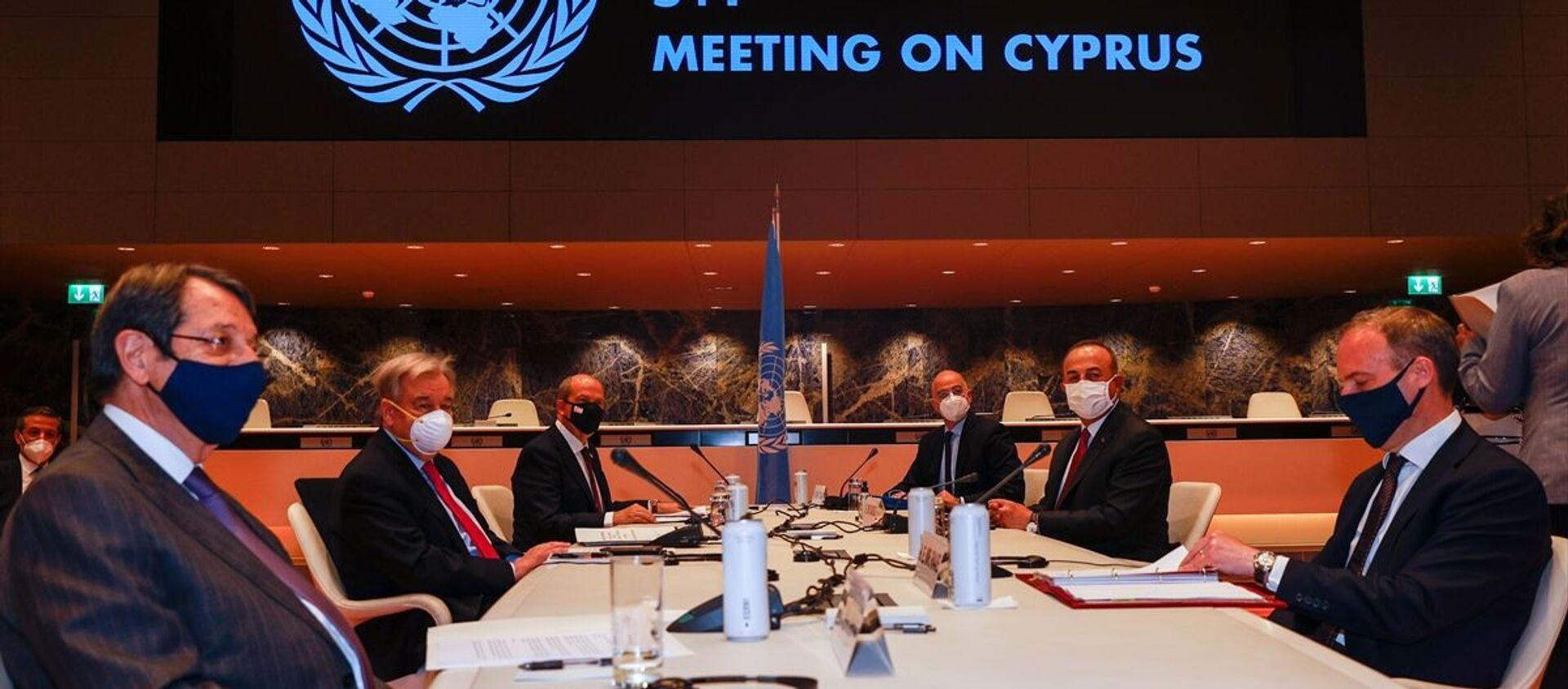 5+1 gayriresmi Kıbrıs konferansı, Mevlüt Çavuşoğlu - Sputnik Türkiye, 1920, 29.04.2021