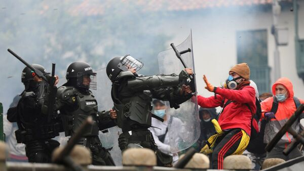 Kolombiya - vergi reformu - protesto - Sputnik Türkiye