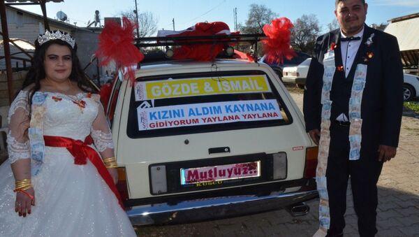 Driftli evlilik teklifi, Gözde-İsmail Göksu - Sputnik Türkiye