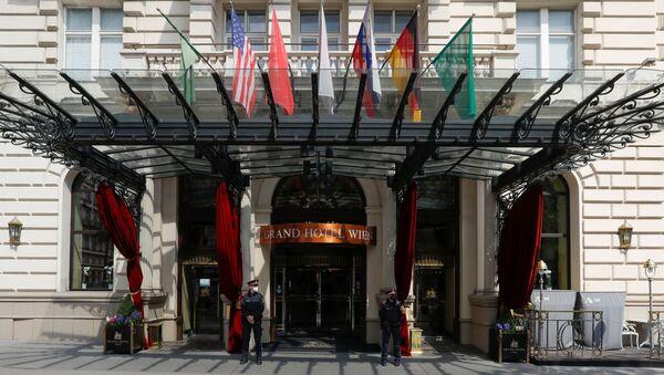 İran ile nükleer anlaşmanın canlandırılması görüşmelerinin yürütüldüğü Avusturya başkenti Viyana'daki Grand Hotel - Sputnik Türkiye