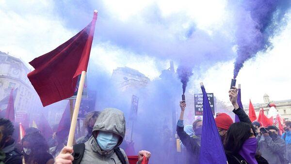 İngiltere protesto - Sputnik Türkiye
