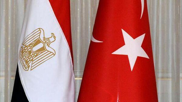 Türkiye Mısır bayrakları - Sputnik Türkiye