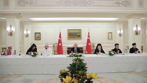 Cumhurbaşkanı Recep Tayyip Erdoğan , azınlık cemaatlerinin temsilcileri ile iftar yemeğinde bir araya geldi. - Sputnik Türkiye