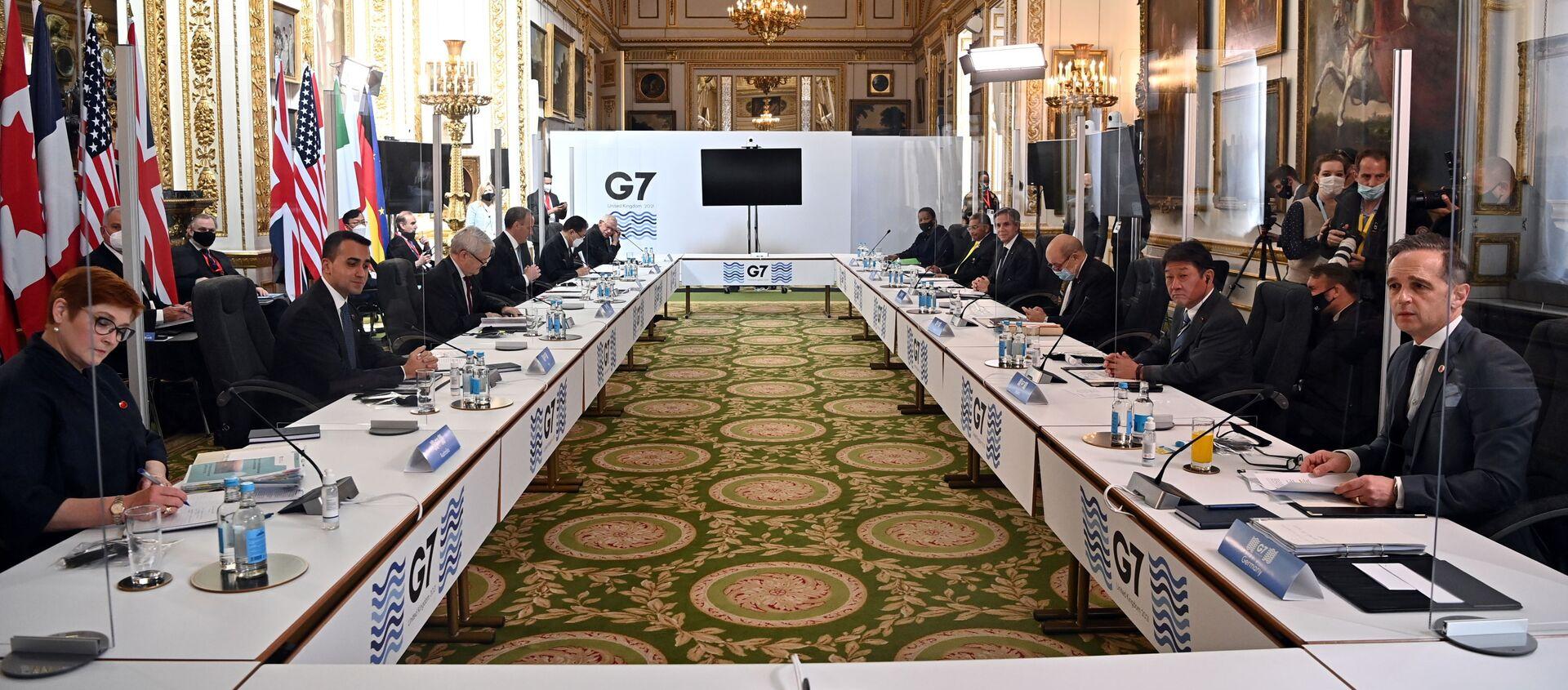 Londra'da bir araya gelen G7 dışişleri bakanları - Sputnik Türkiye, 1920, 05.05.2021