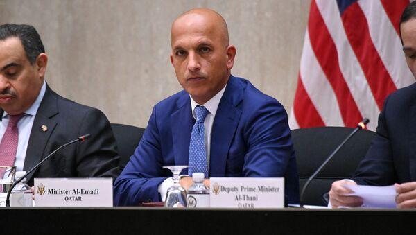 Katar Maliye Bakanı Ali Şerif el Emadi, yıllık ABD-Katar Stratejik Diyalog toplantısında (Washington, ABD Dışişleri Bakanlığı) - Sputnik Türkiye