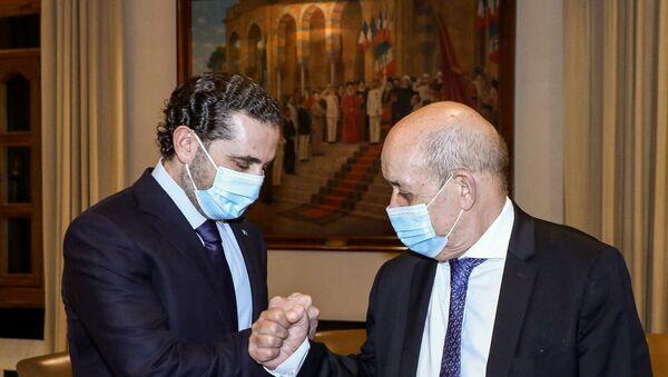Fransa Dışişleri Bakanı Le Drian - Saad Hariri - Sputnik Türkiye