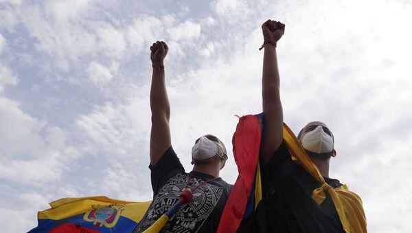 Kolombiya'daki protestolar - Sputnik Türkiye
