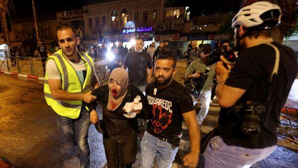 Mescidi Aksa ve çevresinde İsrail polisinin müdahalesi - Sputnik Türkiye