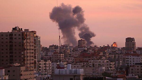 İsrail'den Gazze'ye saldırı - Sputnik Türkiye