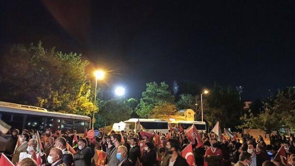 İsrail'in Mescid-i Aksa'ya yönelik müdahalesi Ankara'da protesto ediliyor - Sputnik Türkiye