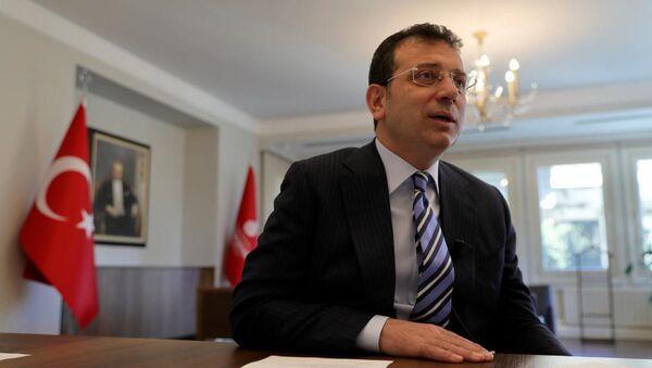 İstanbul Büyükşehir Belediye (İBB) Başkanı Ekrem İmamoğlu, C40 Büyük Kentler İklim Liderlik Grubu'nun (C40 Cities) düzenlediği çevrimiçi toplantıya katıldı. - Sputnik Türkiye