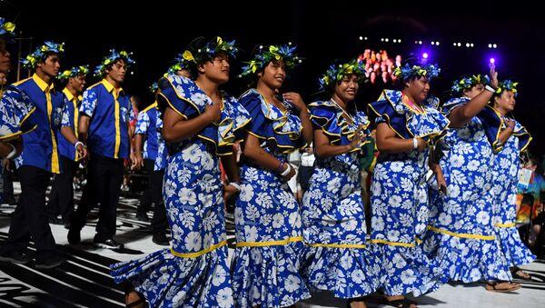 Britanya İmparatorluğu'nun eski üyelerinin oluşturduğu (İngiliz) Milletler Topluluğu Oyunları'na 2018'de katılan Nauru delegasyonu - Sputnik Türkiye
