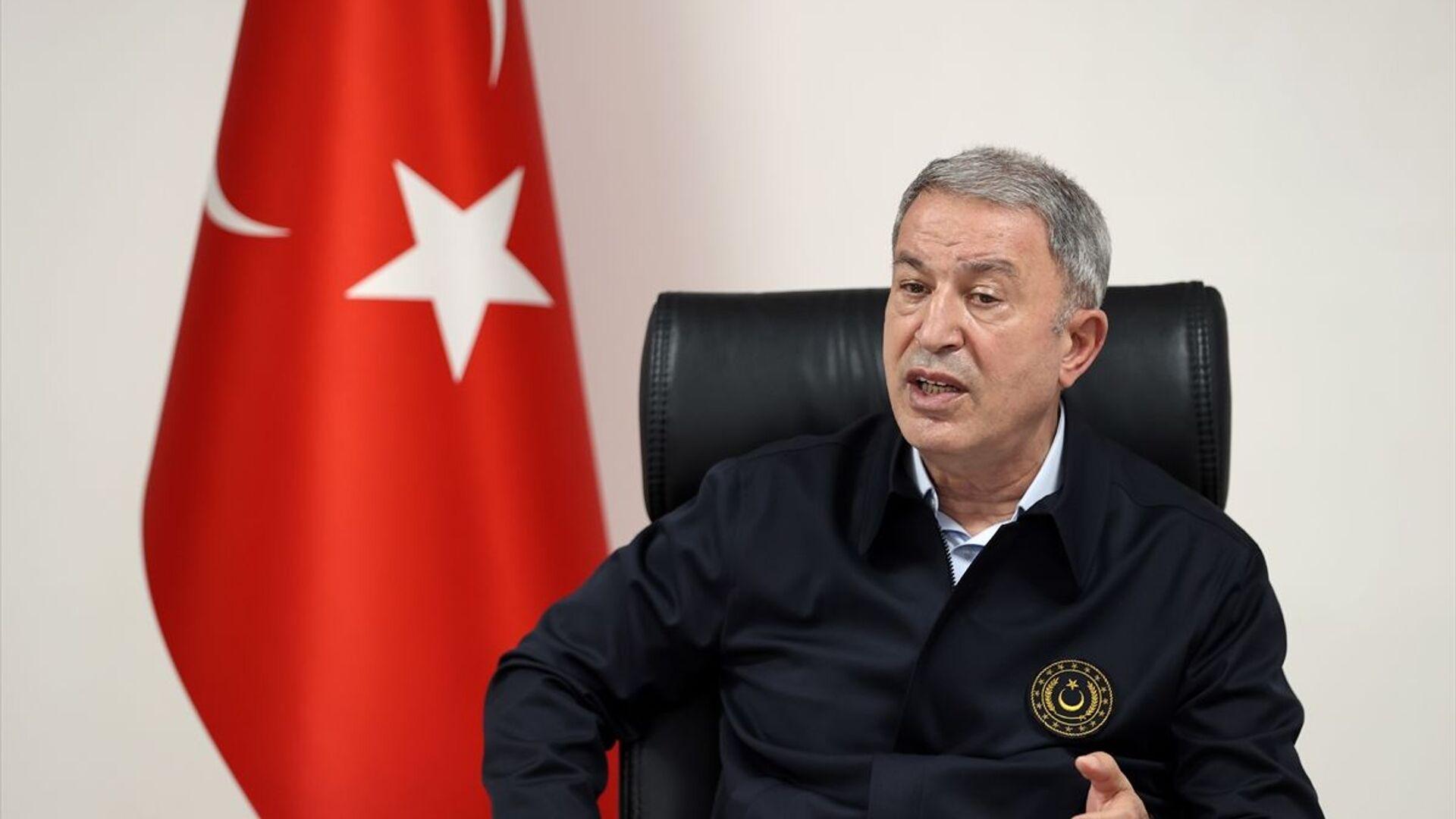 Milli Savunma Bakanı Hulusi Akar - Sputnik Türkiye, 1920, 12.05.2021
