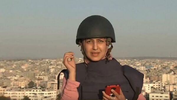 Al Jazeera muhabiri- bomba- Gazze - Sputnik Türkiye