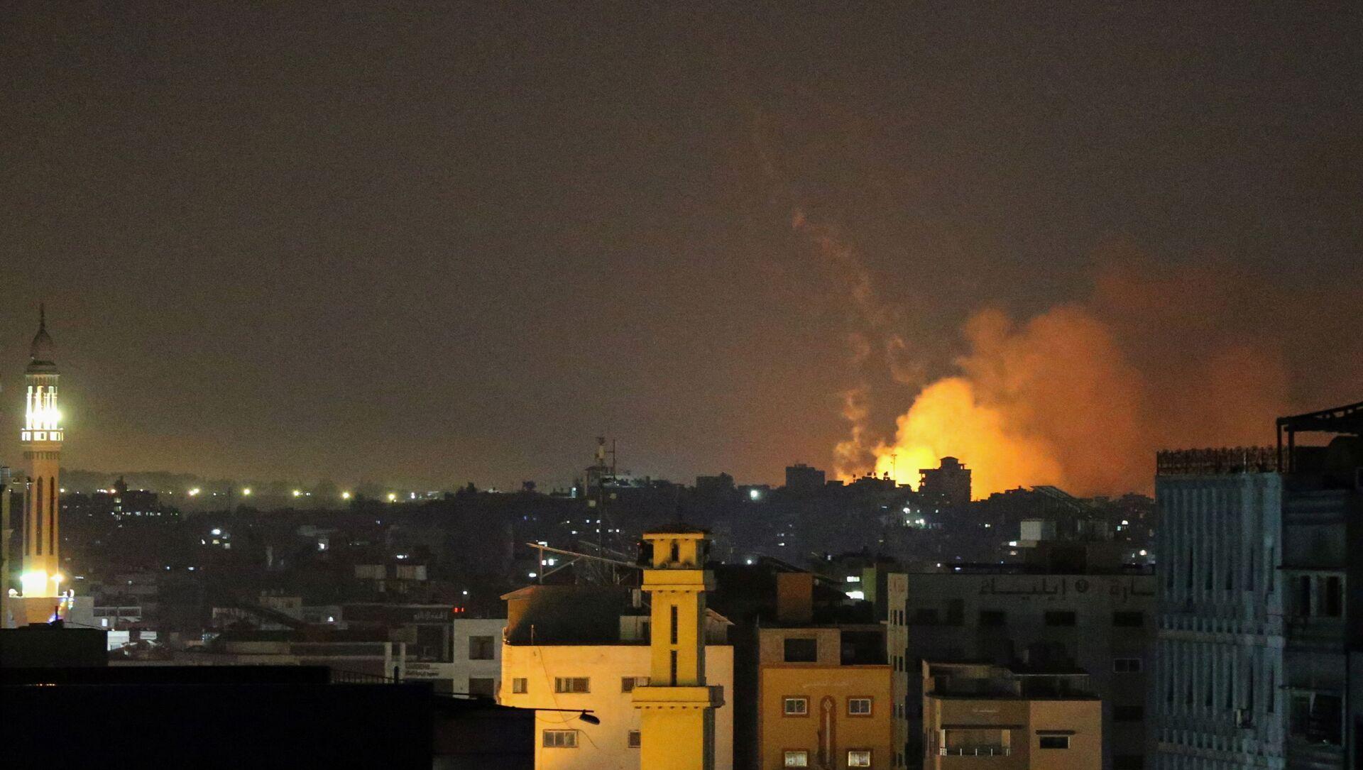 İsrail'in Gazze'ye hava saldırısı - Sputnik Türkiye, 1920, 02.07.2021
