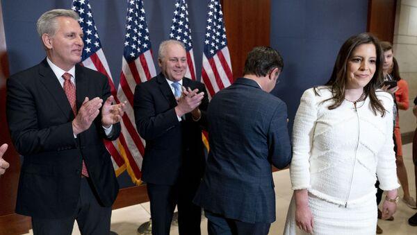 ABD Temsilciler Meclisi'nde 'maskeye veda' kutlaması - Sputnik Türkiye