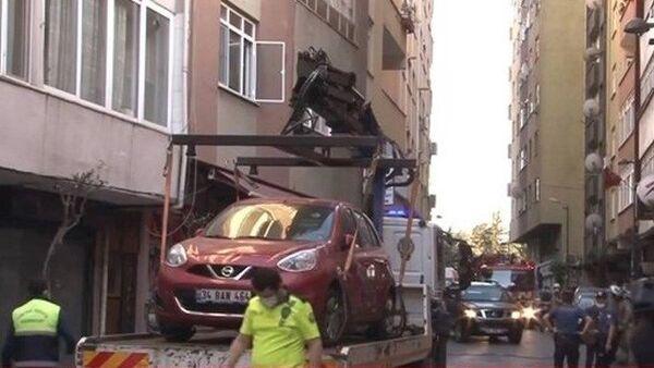Şişli'de çökme tehlikesi olan 6 katlı bina boşaltıldı - Sputnik Türkiye
