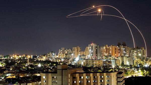 İsrail - Gazze - roket - Demir Kubbe - Sputnik Türkiye