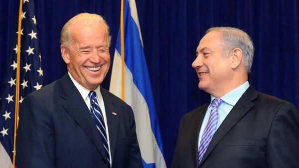 Joe Biden- İsrail Başbakanı Benyamin Netanyahu  - Sputnik Türkiye
