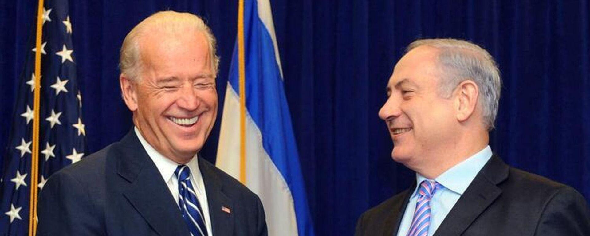 Joe Biden- İsrail Başbakanı Benyamin Netanyahu  - Sputnik Türkiye, 1920