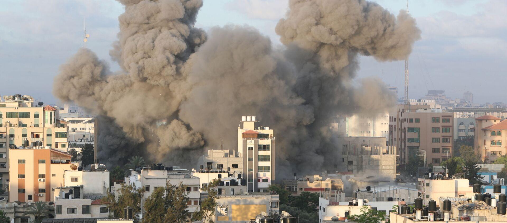 İsrail ordusunun Gazze'ye düzenlediği saldırılar  - Sputnik Türkiye, 1920, 18.05.2021