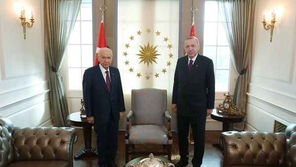 Cumhurbaşkanı Erdoğan, Bahçeli ile görüşüyor - Sputnik Türkiye