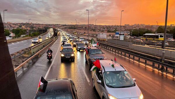 Filistin'e destek konvoyu - Sputnik Türkiye