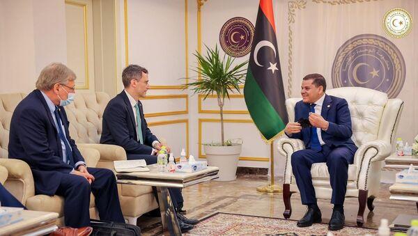 Libya - Richard Norland - Joey Hood - Abdulhamid Dibeybe - ziyaret - Sputnik Türkiye