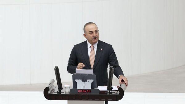 Dışişleri Bakanı Mevlüt Çavuşoğlu, TBMM Genel Kurulu'nda Gazze ve Kudüs'te yaşanan vahşet hakkında milletvekillerini bilgilendirdi. - Sputnik Türkiye