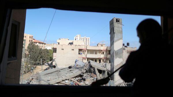 İsrail'in, Gazze Şeridi'ne düzenlediği hava saldırıları - Sputnik Türkiye