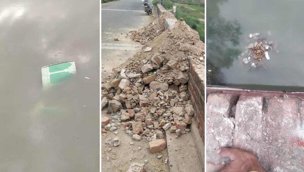 Hindistan'ın Uttar Pradeş eyaletinde bulunan asırlık bir caminin bölge yönetimi tarafından yıkılması bölgedeki Müslümanlar arasında büyük öfke uyandırdı. - Sputnik Türkiye