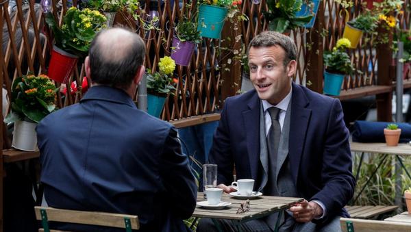 Emmanuel Macron - Jean Castex - Sputnik Türkiye