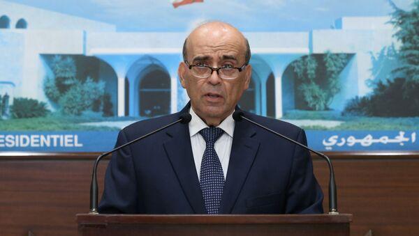 Körfez'le diplomatik krize neden olup istifasını sunan Lübnan Dışişleri Bakanı ŞerbilVehbe - Sputnik Türkiye